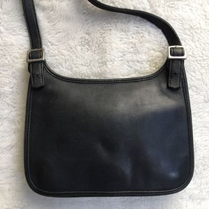 Vintage Coach Legacy Black Leather Crossbody